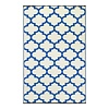 Recycled Blue & White Quatrefoil Rug Tangier