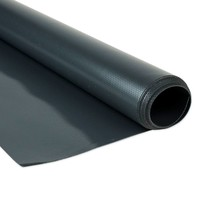 2,5m PVC zeildoek Antraciet van de rol 680gr/m2 per meter