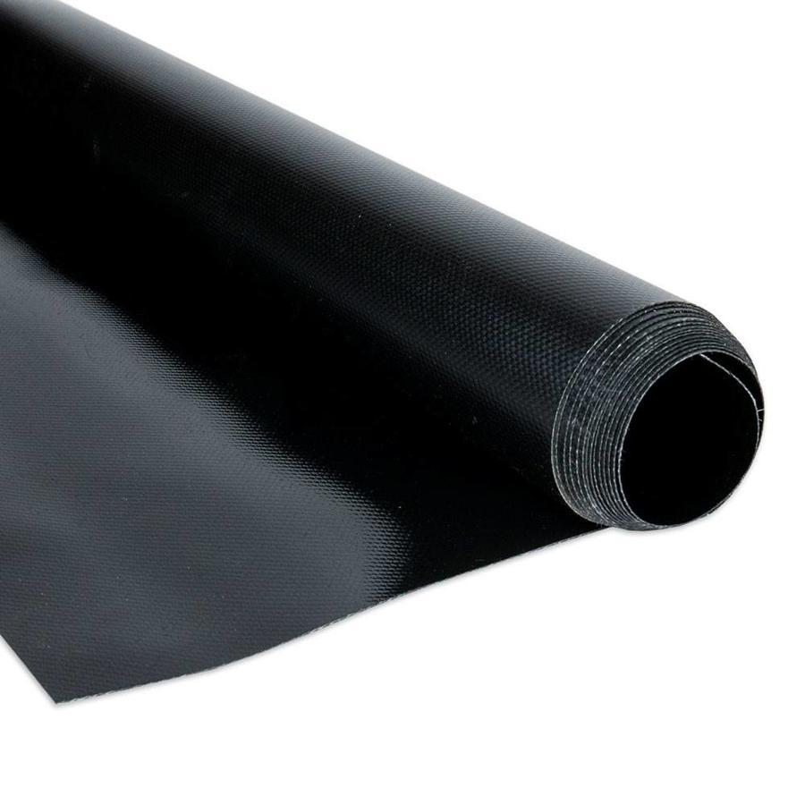 2,5m rolbreedte Zwart RAL9005 680gr/m2 PVC zeildoek