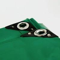 5x8 Groen 650gr PVC afdekzeil met 18mm zeilringen (nestels, ringogen)