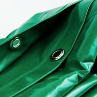 3,5x8 Groen 650gr PVC afdekzeil met 18mm zeilringen (nestels, ringogen)
