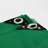 2x3 Groen 650gr PVC afdekzeil met 18mm zeilringen (nestels, ringogen)