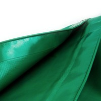 1,5x6 Groen 650gr PVC afdekzeil met 18mm zeilringen (nestels, ringogen)
