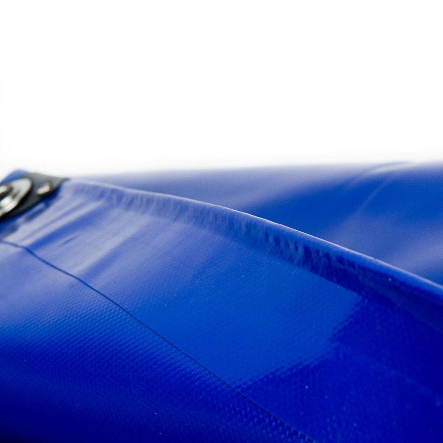 4x6 Blauw 650gr PVC afdekzeil met 18mm zeilringen (nestels, ringogen)