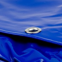 2x3 Blauw 650gr PVC afdekzeil met 18mm zeilringen (nestels, ringogen)