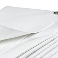 6x8 Wit 650gr PVC afdekzeil met 18mm zeilringen (nestels, ringogen)