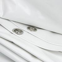 3x4 Wit 650gr PVC afdekzeil met 18mm zeilringen (nestels, ringogen)
