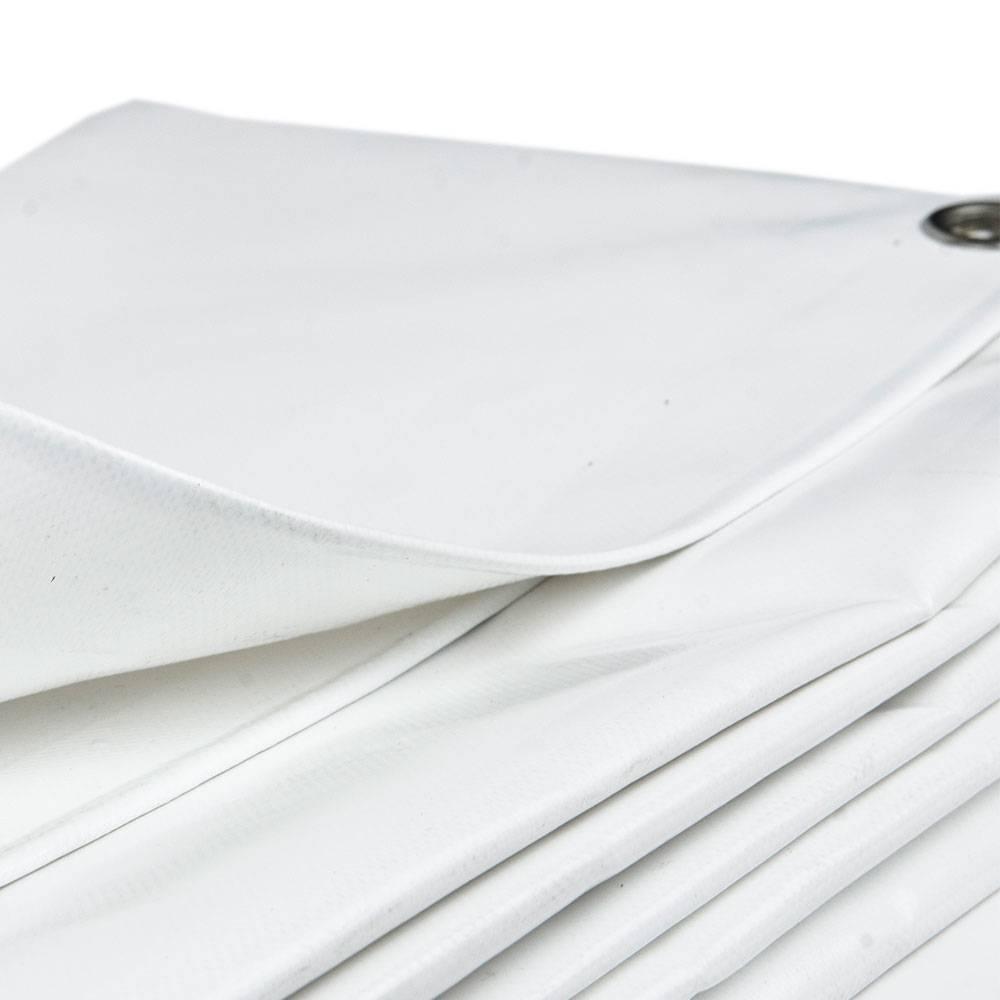 Hedendaags 3x4 Wit PVC afdekzeil 650gr met zeilringen (ogen) - Afdekzeilwinkel.nl MX-04