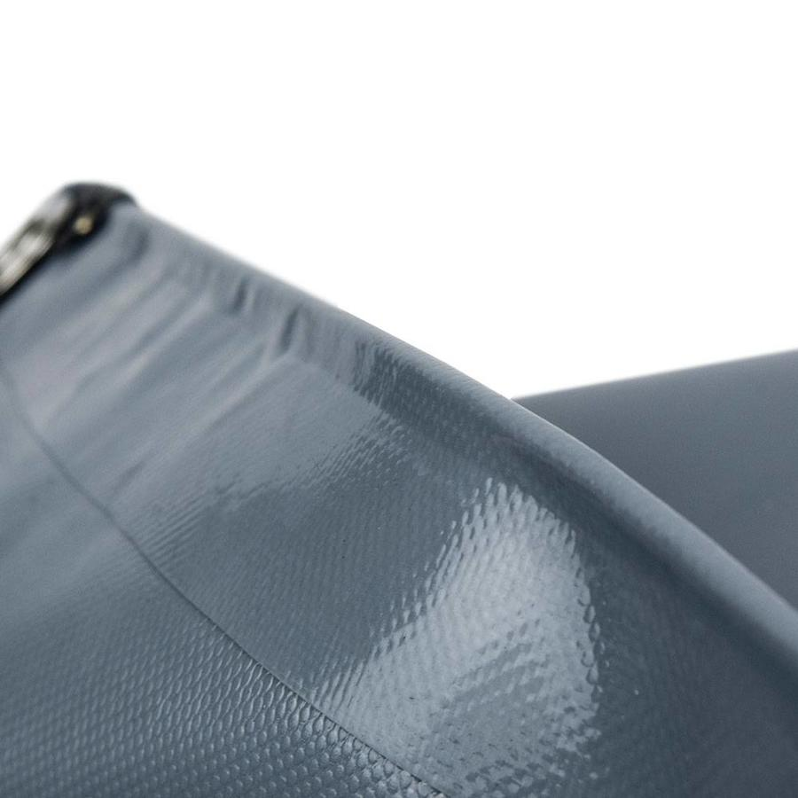 5x8 Grijs 650gr PVC afdekzeil met 18mm zeilringen (nestels, ringogen)