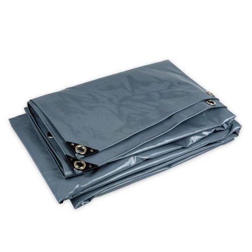 5x8 Grijs 650gr PVC afdekzeil met zeilringen (nestels)