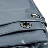 3x6 Grijs 650gr PVC afdekzeil met 18mm zeilringen (nestels, ringogen)
