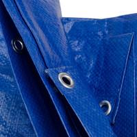 Afdekzeil PE Blauw 8x10 Bouwzeil 250gr Polyethyleen