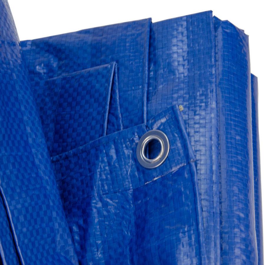 Afdekzeil PE Blauw 10x12 Bouwzeil 250gr Polyethyleen
