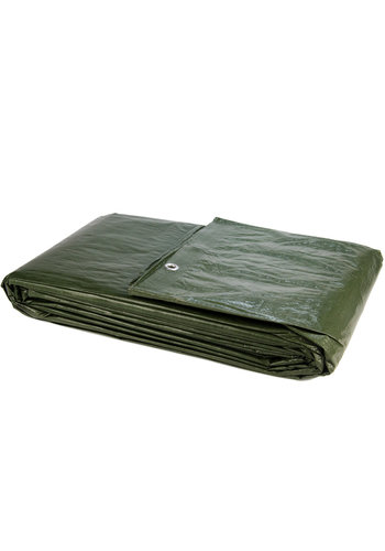 Afdekzeil PE Groen 10x12 Bouwzeil 250gr