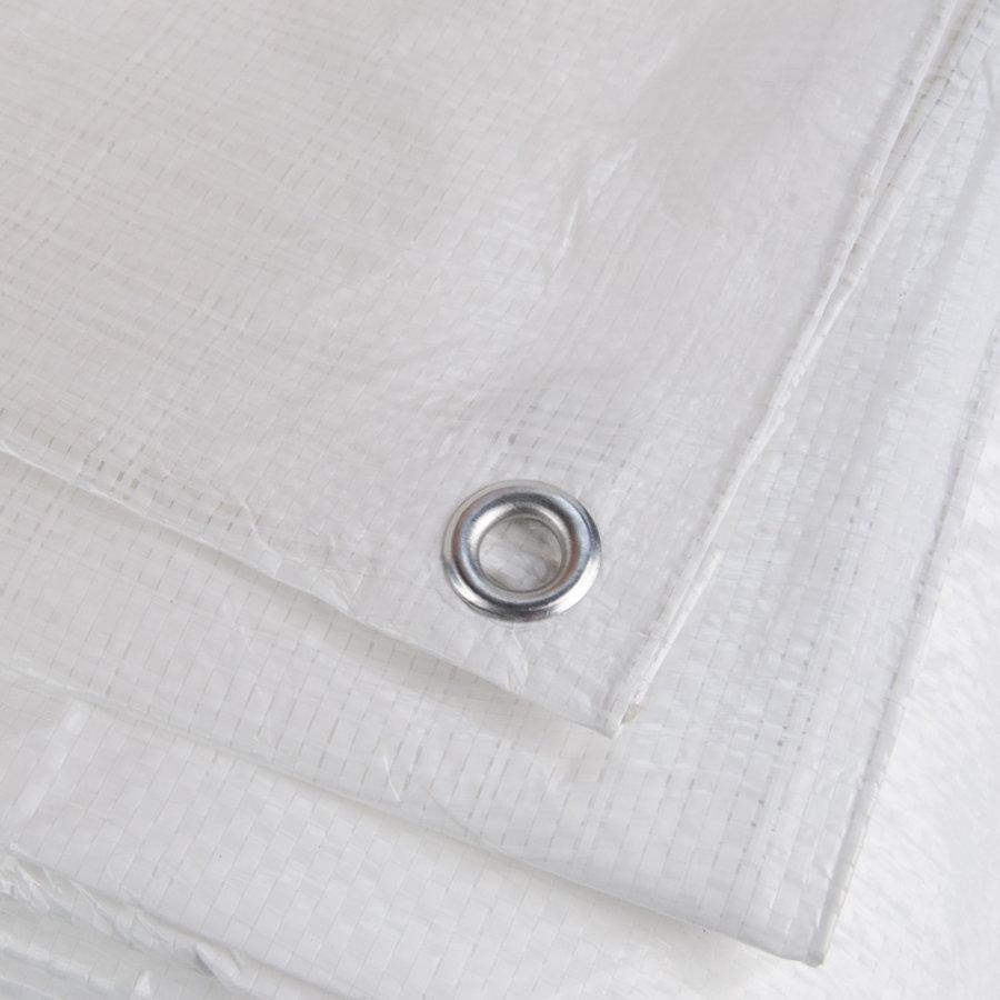 Afdekzeil PE Wit 10x12 Bouwzeil 250gr Polyethyleen