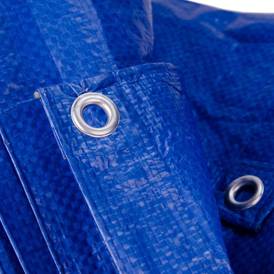Afdekzeil PE Blauw 4x6 Bouwzeil 100gr Polyethyleen