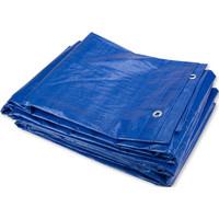Afdekzeil PE Blauw 8x10 Bouwzeil 100gr Polyethyleen