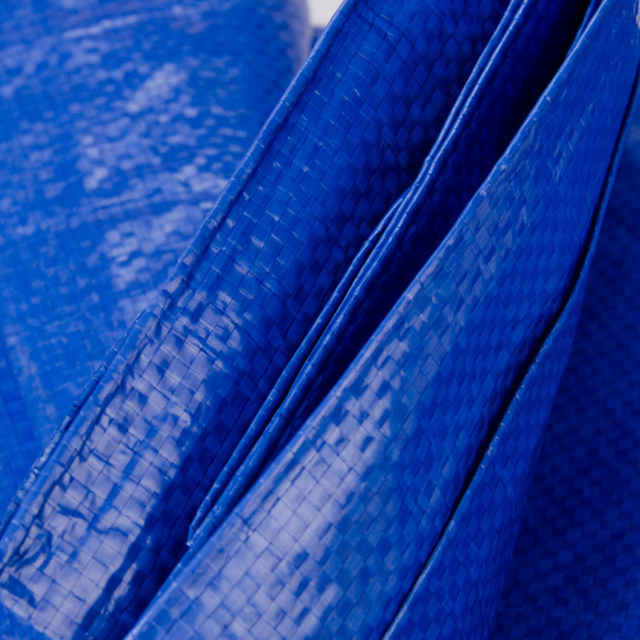 Afdekzeil PE Blauw 10x12 Bouwzeil 100gr Polyethyleen