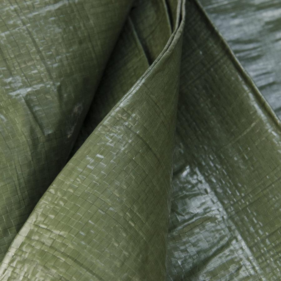 Afdekzeil PE Groen 5x6 Bouwzeil 100gr Polyethyleen