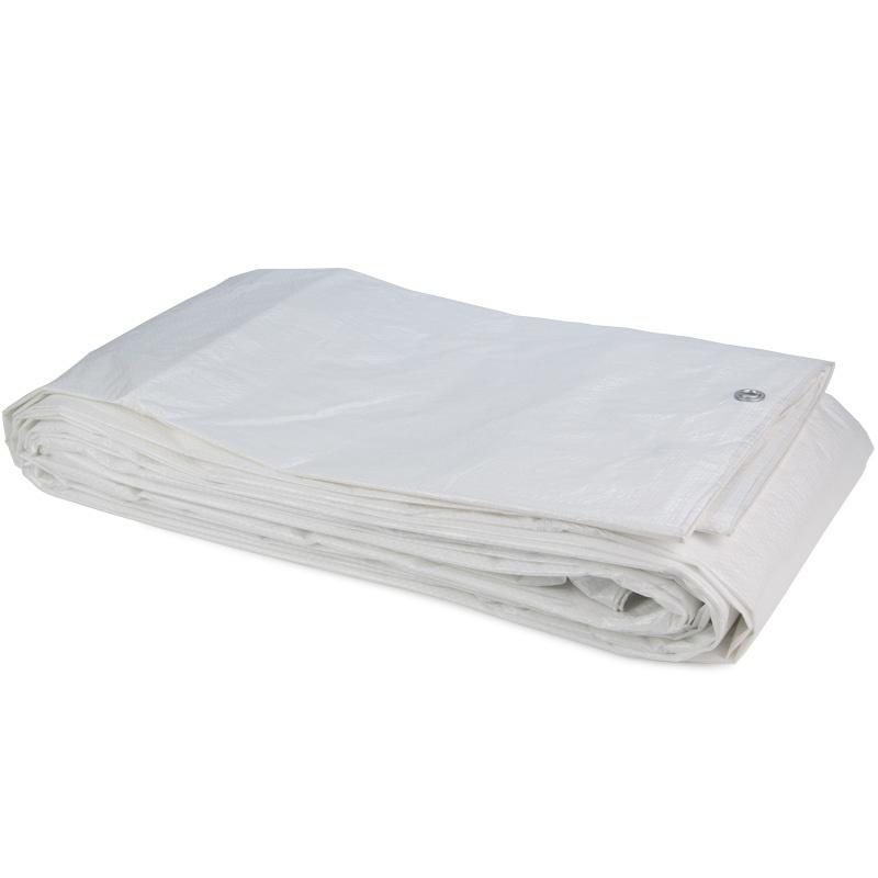 PE Afdekzeil / Bouwzeil 8x10m (150gr/m2) Wit incl. Zeilringen -  Dekkleed / Dekzeil Polyethyleen