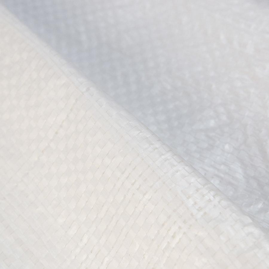 Afdekzeil 10x12 Wit Brandvertragend PE 150gr Bouwzeil