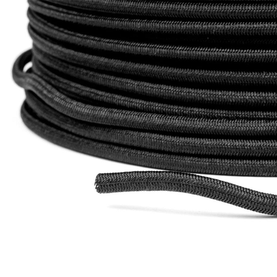Trapezekoord 6mm Zwart per meter Multi PE Elastisch koord
