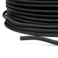Trapezekoord Elastiek 8mm Zwart rol 100 meter Multi PE