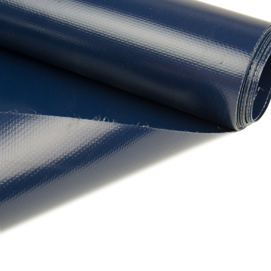 2,5m rolbreedte Donkerblauw 680gr/m2 PVC zeildoek
