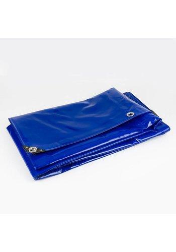 4x8 Blauw 650gr PVC afdekzeil met zeilringen (nestels)