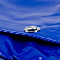 4x8 Blauw 650gr PVC afdekzeil met 18mm zeilringen (nestels, ringogen)