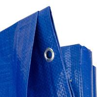 Afdekzeil PE Blauw 15x20 Bouwzeil 250gr Polyethyleen