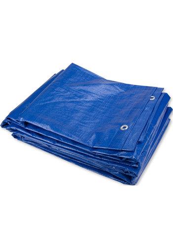 Afdekzeil PE Blauw 20x20 Bouwzeil 250gr