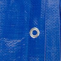 Afdekzeil PE Blauw 20x20 Bouwzeil 250gr Polyethyleen