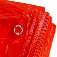 Afdekzeil PE Oranje 10x15 Bouwzeil 100gr Polyethyleen