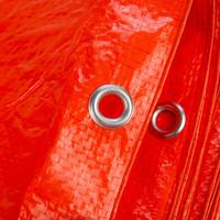 Afdekzeil PE Oranje 4x6 Bouwzeil 100gr Polyethyleen