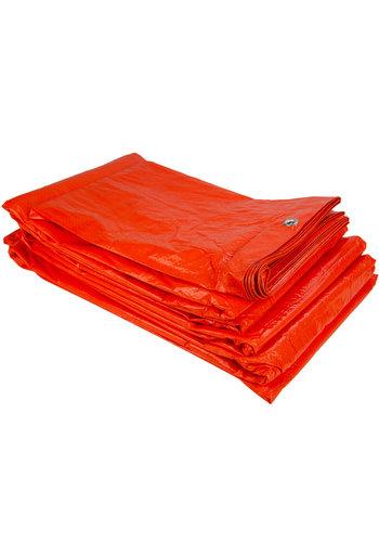 Afdekzeil PE Oranje 6x8 Bouwzeil 100gr