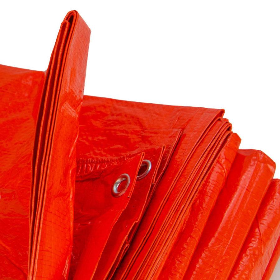 Afdekzeil PE Oranje 10x12 Bouwzeil 100gr Polyethyleen