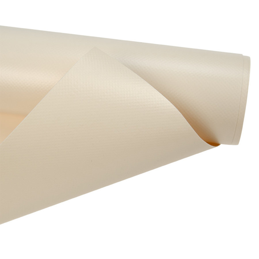 250 cm rolbreedte Creme RAL1013 680gr/m2 PVC zeildoek
