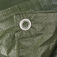 Afdekzeil PE Groen 2x3 Bouwzeil 150gr Polyethyleen