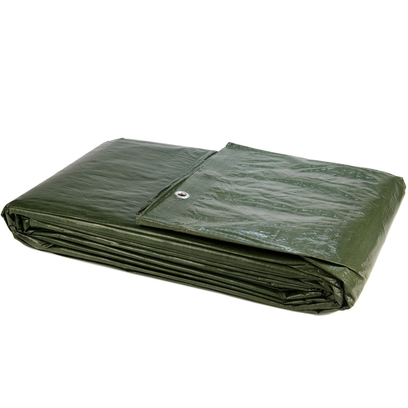 8x10m Groen Zeil PE/ Bouwzeil (150gr/m2) incl. Zeilringen