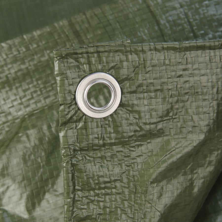 Afdekzeil PE Groen 10x15 Bouwzeil 150gr Polyethyleen