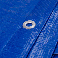 Afdekzeil PE Blauw 4x5 Bouwzeil 150gr Polyethyleen