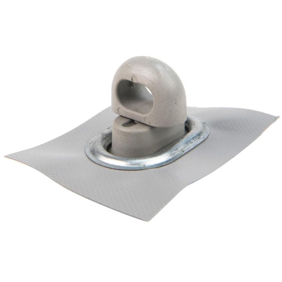 Tourniquet 42x22mm draaisluiting grijs kunststof professioneel
