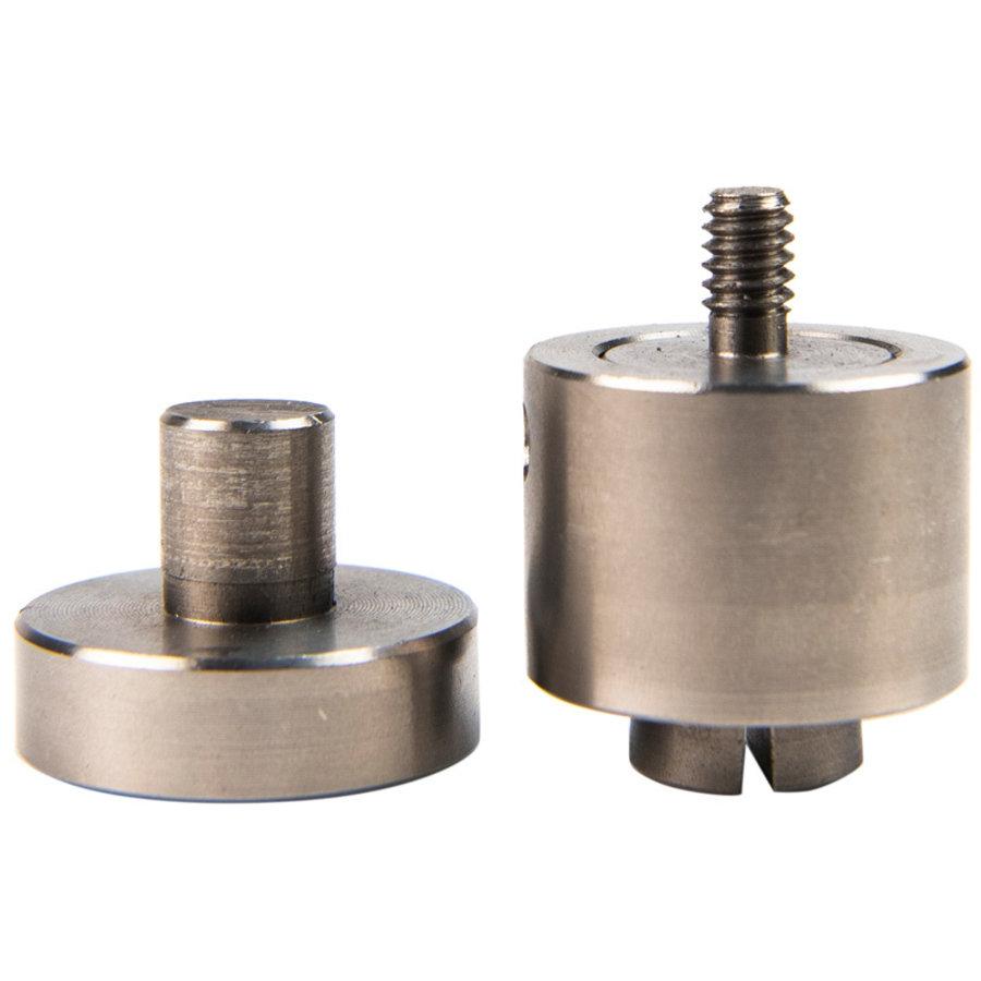 Stempel 8, 10, 12mm voor handpers om zeilringen te monteren