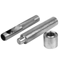 Semi-Pro handstempel en holpijp 14mm zeilkous / zeilringen gereedschap