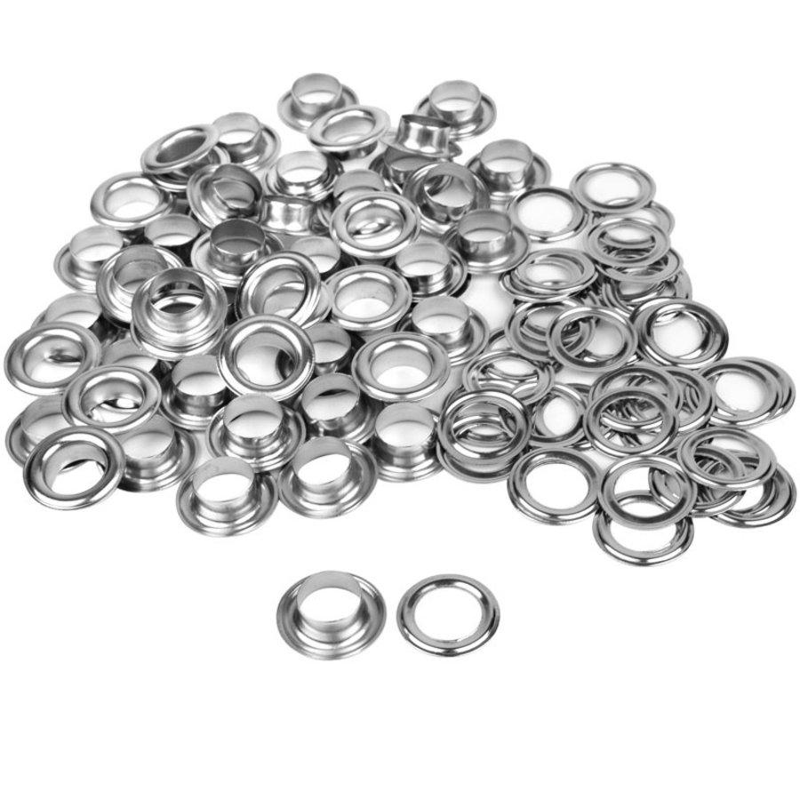 Zeilringen / zeilkous 12mm RVS 50 st (nestel ringen)