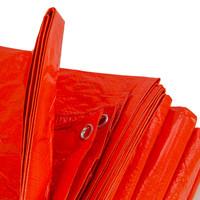 Afdekzeil PE Oranje 6x10 Bouwzeil 100gr Polyethyleen
