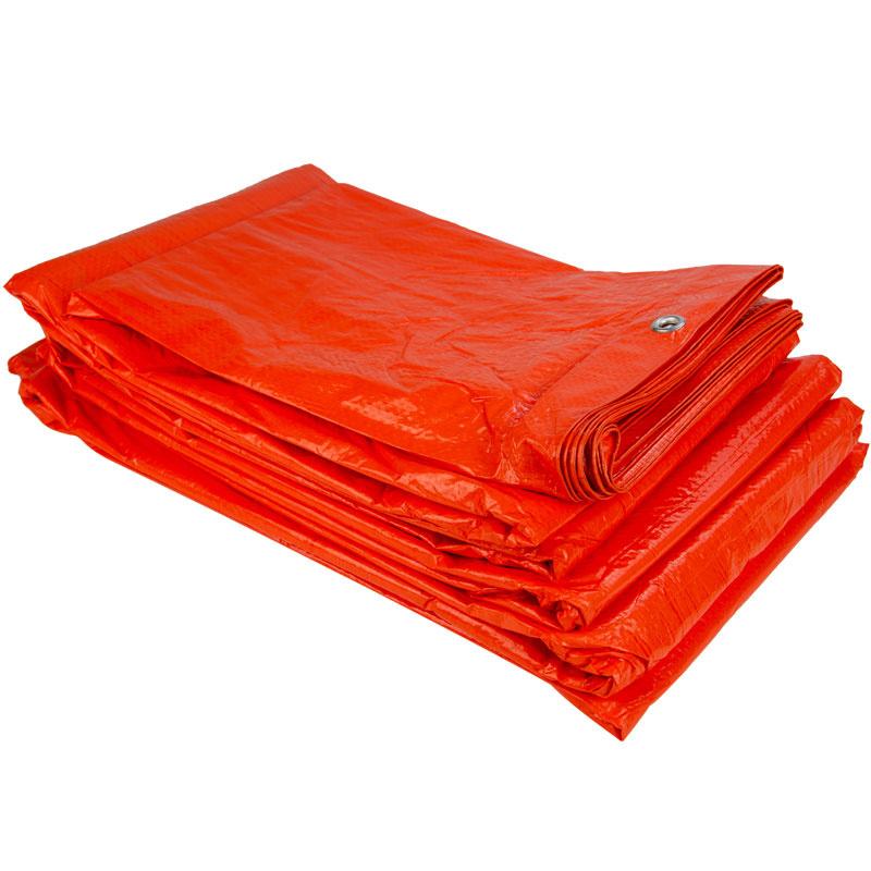 6x10m Oranje Zeil PE/ Bouwzeil (100gr/m2) incl. Zeilringen