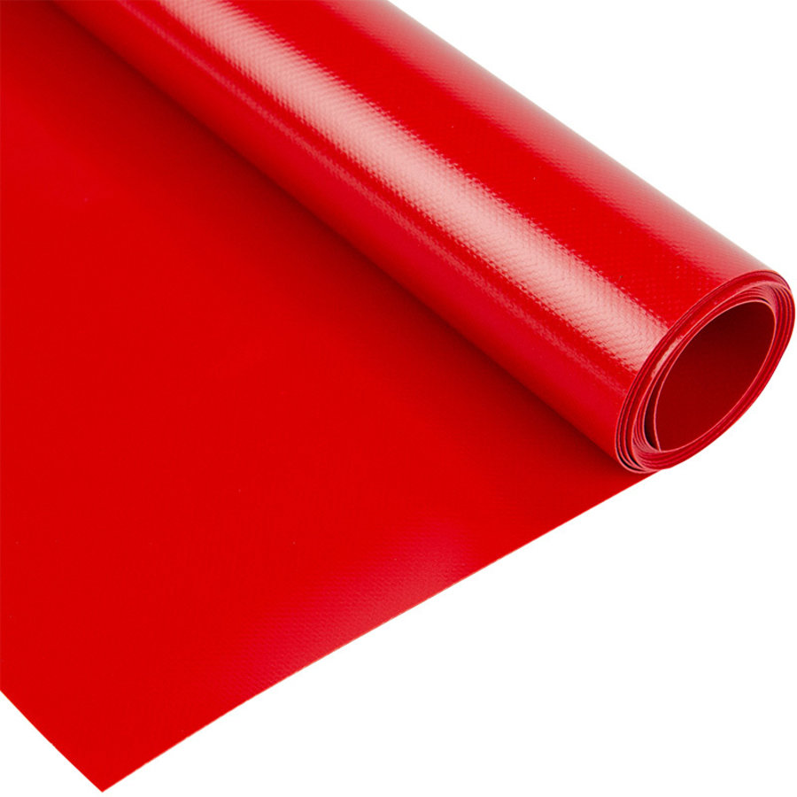 2,5m rood 680gr pvc zeil per meter van de rol