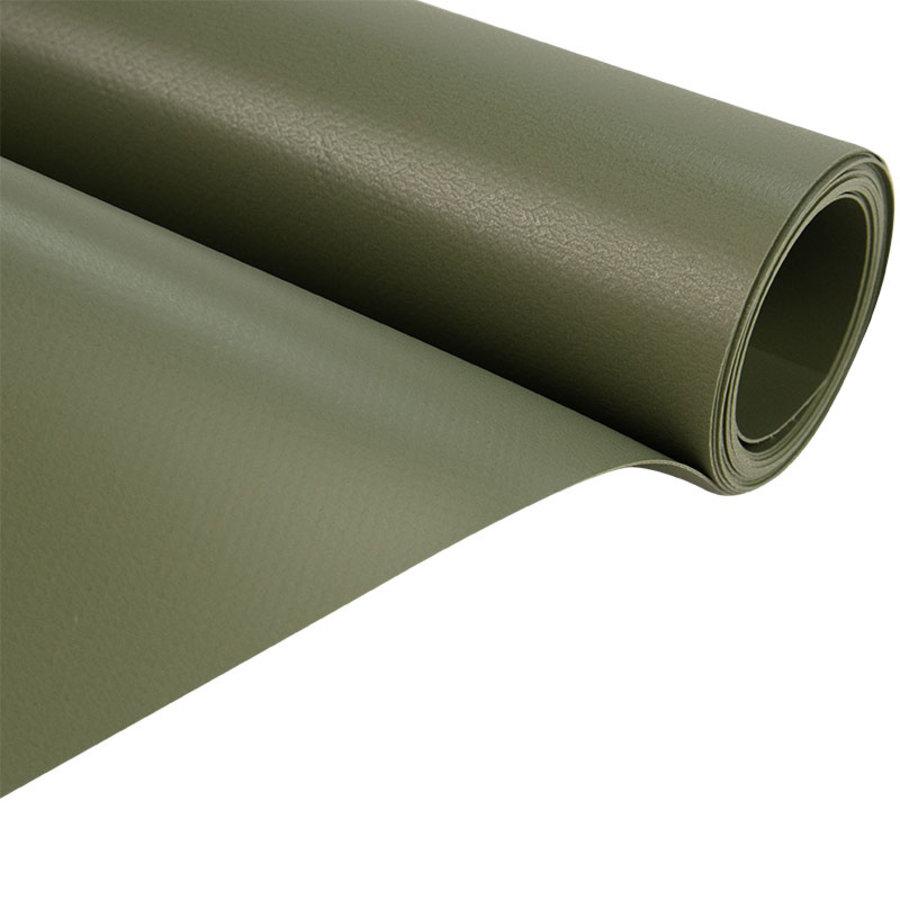 2,5m groen mat 680gr pvc zeil per meter van rol
